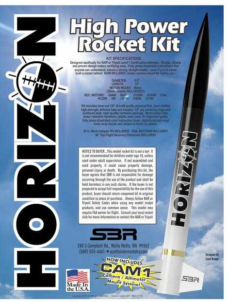 SBR Horizon High Power Rocket Kit