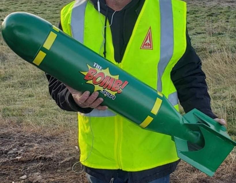 "SBR 5.5"" The Bomb High Power Rocket Kit"